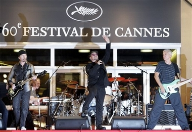 Film Cannes U2 3D Arrivals
