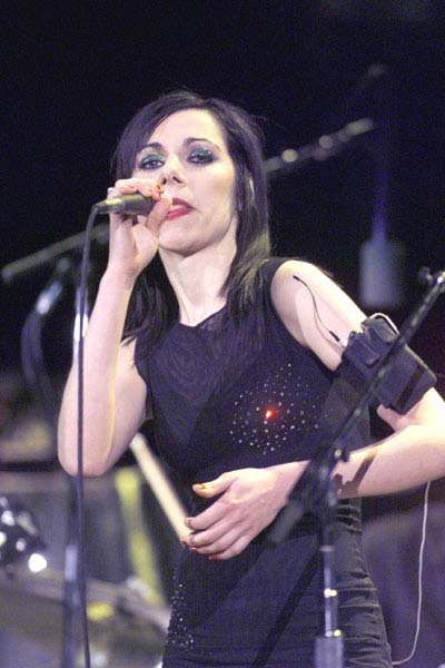 U2 opening act PJ Harvey performed 40 minutes of material April 9 that included her latest critically acclaimed release, Stories From the City, Stories From the Sea (Darren Makowichuk, Calgary Sun).