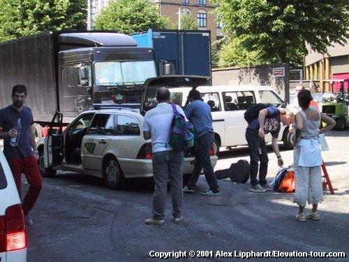 The Stereophonics arriving in their very own Taxi ...<br />photo by Alex Lipphardt (u2bono@t-online.de)
