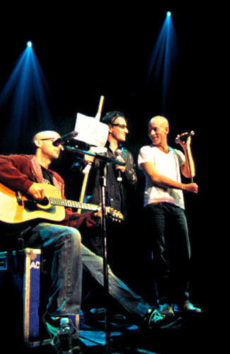 Moby, Bono & Michael Stipe @ New York Against Violence Concert