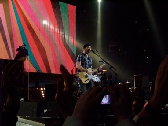 U2 performing @ ECHO 2009 in Berlin / Photo by Matthias Muehlbradt
